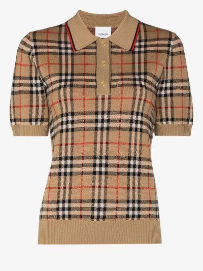 Vintage Check Merino Wool Polo Shirt