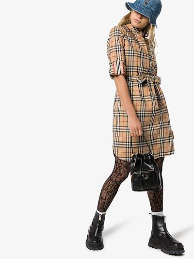 Vintage check shirt dress