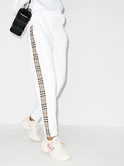 Vintage check stripe track pants