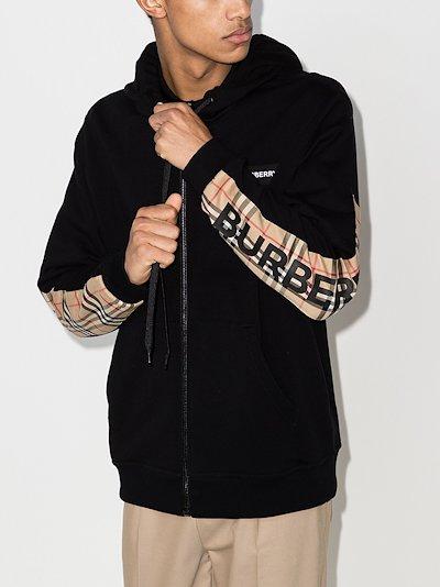 Vintage Check zipped hoodie