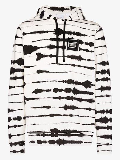 watercolour print stretch cotton hoodie