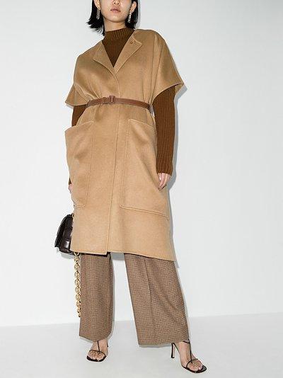 Waxham belted cashmere cape