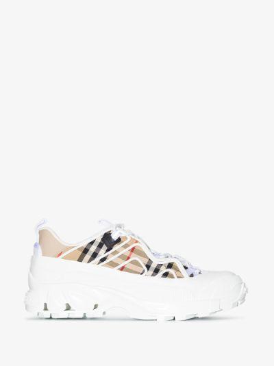 white Arthur Vintage Check sneakers