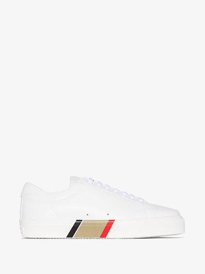 white Rangleton leather sneakers