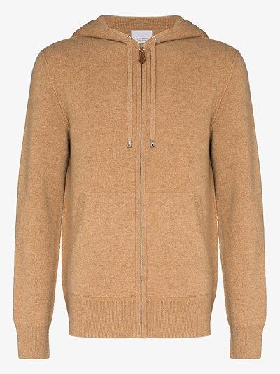 zip-up cashmere hoodie