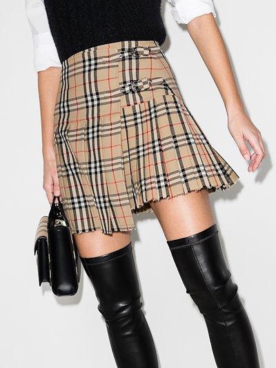 Zoe vintage check mini skirt