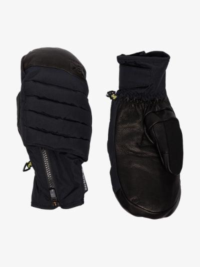 black Oven ski mittens