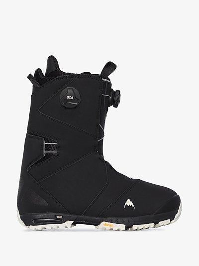 black Photon Boa snow boots
