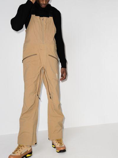 brown GORE-TEX 3L Freebird bib ski trousers