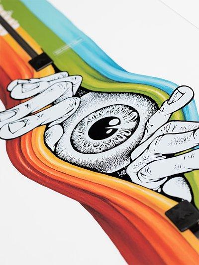 multicoloured Deep Thinker 154 snowboard
