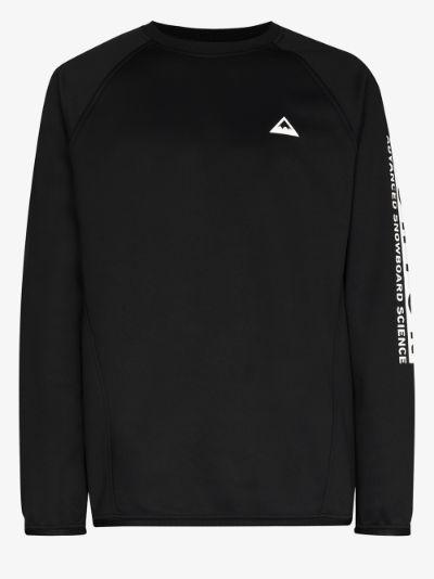 Black Crown recycled fleece sweatshirt