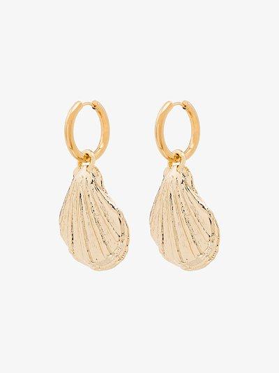 gold-plated Brigitte shell earrings