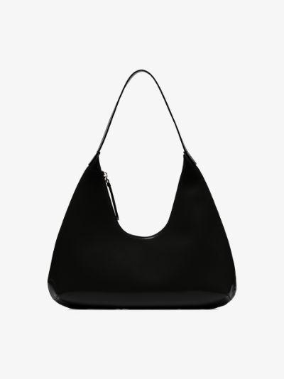 Black Amber patent leather shoulder bag