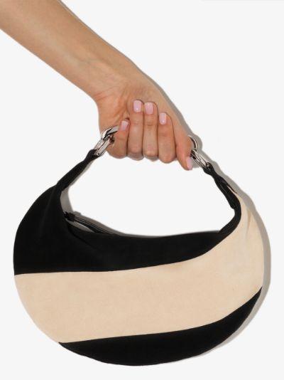 black Bougie suede shoulder bag