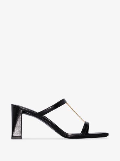 black Chloe 80 leather sandals