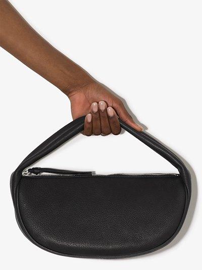 black Cush leather shoulder bag