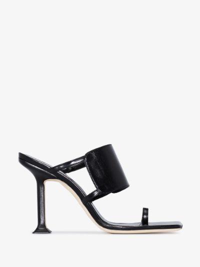 black Gigi 100 cutout leather sandals