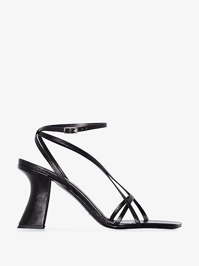 black Kersti 100 leather sandals