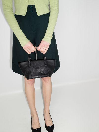 black Lulu leather tote bag
