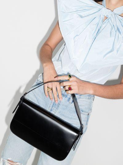 black Manu patent leather shoulder bag