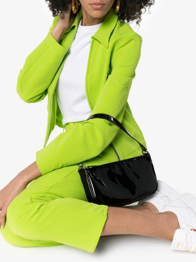 Black Rachel patent leather shoulder bag