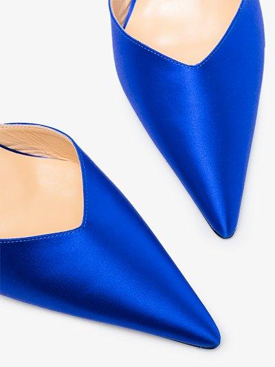 blue Alla 80 crystal pumps