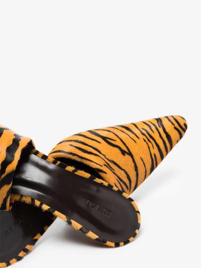 brown Cynthia 65 tiger print mules
