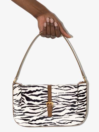 multicoloured miranda zebra print shoulder bag