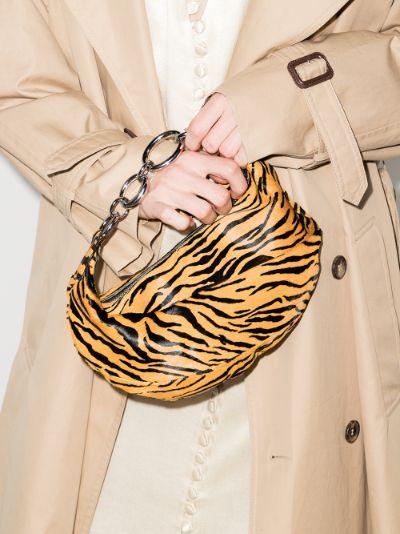 orange Bougie tiger print shoulder bag