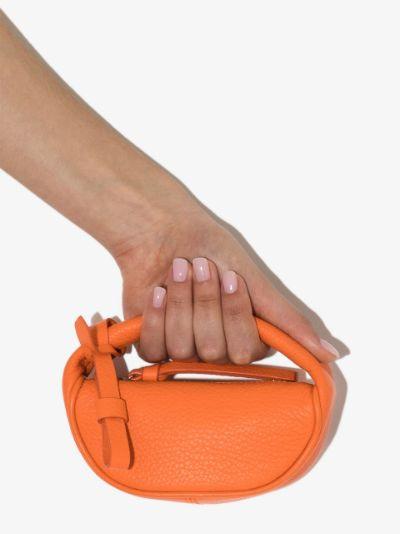 orange Micro Cush leather mini bag