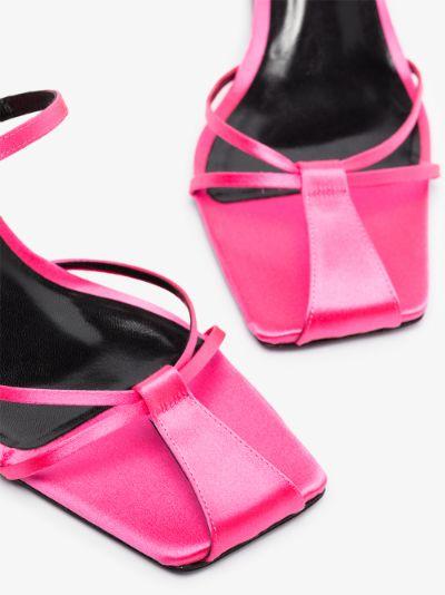 pink Louise 65 silk sandals