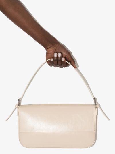 white Manu leather shoulder bag