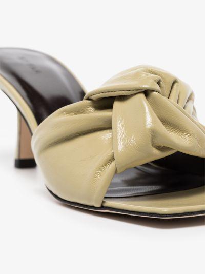 Yellow Lana 65 leather mules