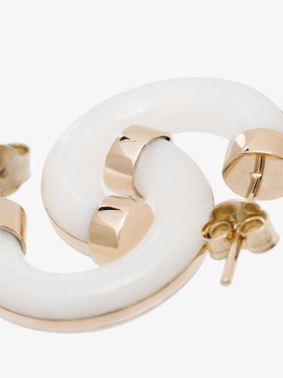 14K yellow gold Essential agate hoop earrings