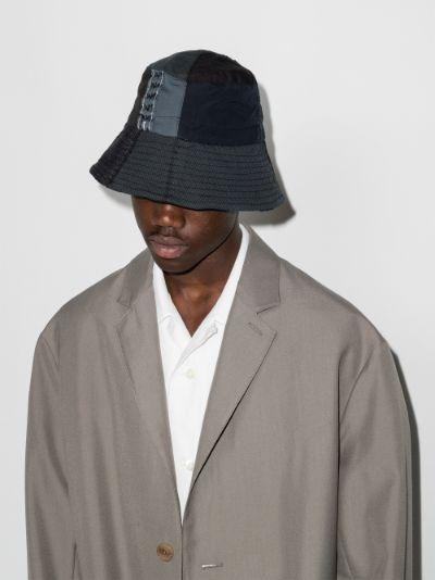 black Shirting patch bucket hat