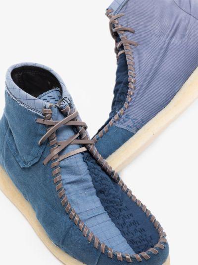 blue Anka patchwork boots