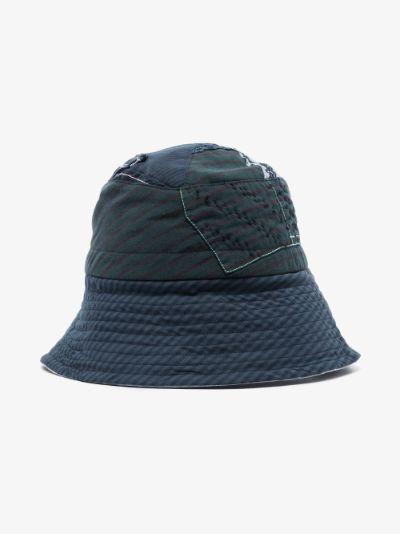 blue Callum patchwork cotton bucket hat