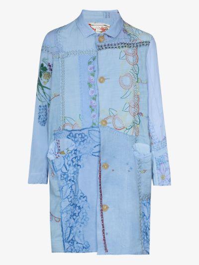 Cedric linen patchwork shirt jacket