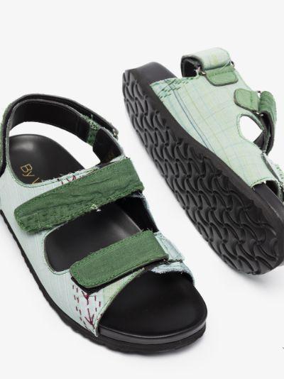 Green Felix sandals