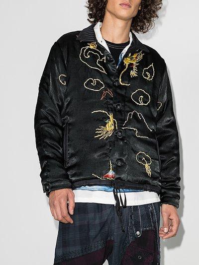 Jono embroidered dragon bomber jacket