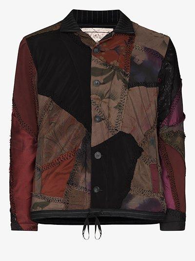 Jono patchwork bomber jacket