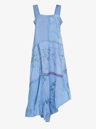 Maggy linen patchwork dress
