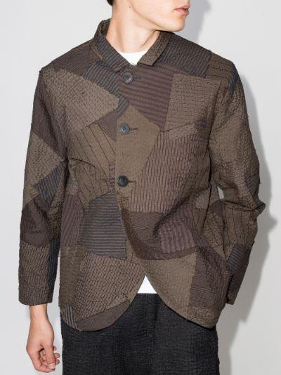 Marin patchwork cotton shirt jacket