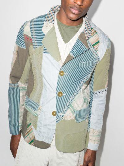 Milo patchwork single-breasted blazer