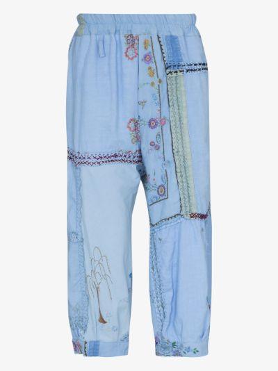 Orson patchwork linen trousers
