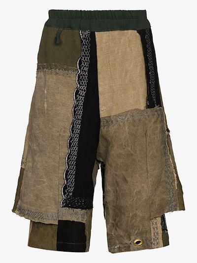 patchwork Bermuda shorts