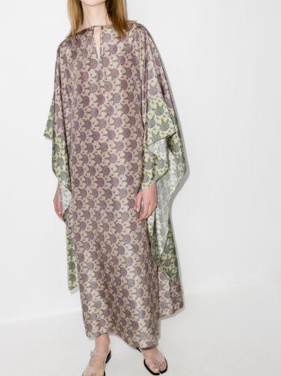 printed silk kaftan dress