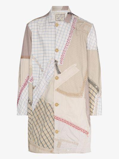 Rufus patchwork cotton coat