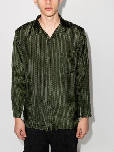 Tristan floral silk shirt