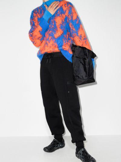black B-Pants knitted track pants